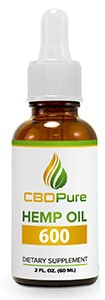 cbdpure hemp oil 600 reviews